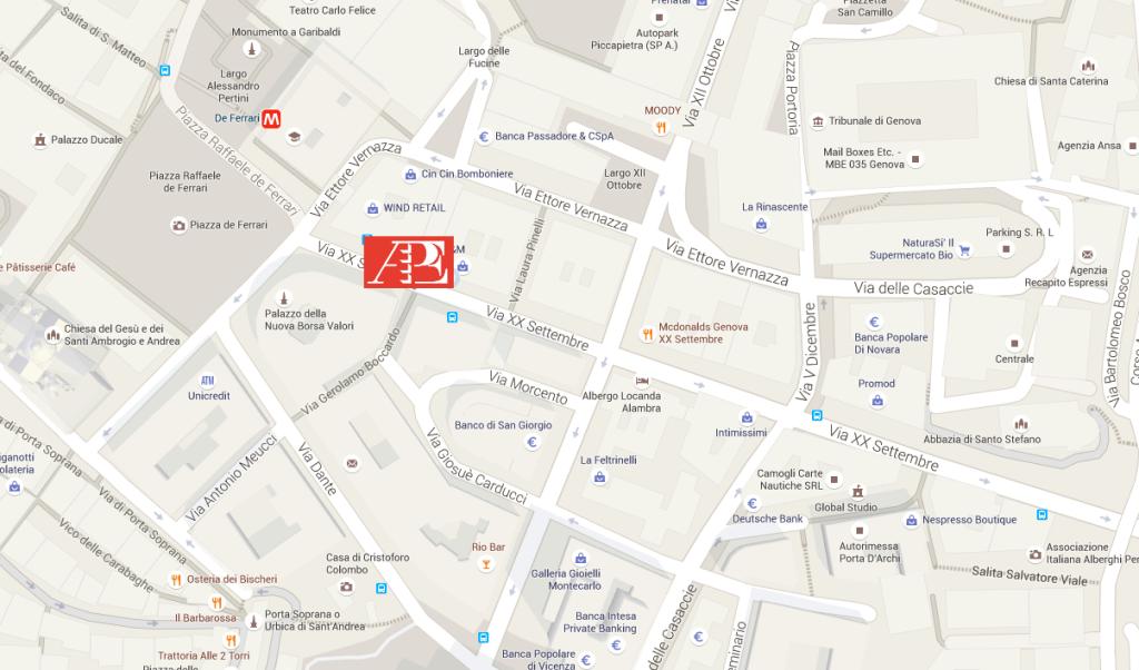 Mappa APE Genova