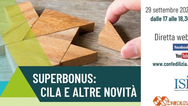 Superbonus Cila e altre novità APE Confedilizia Genova